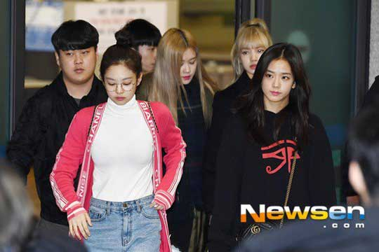 BLACKPINK at Incheon Airport Back from Thailand on January 14, 2019